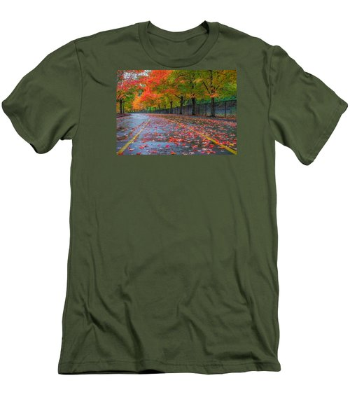 Sugar Maple Drive Men's T-Shirt (Slim Fit) by Ken Stanback
