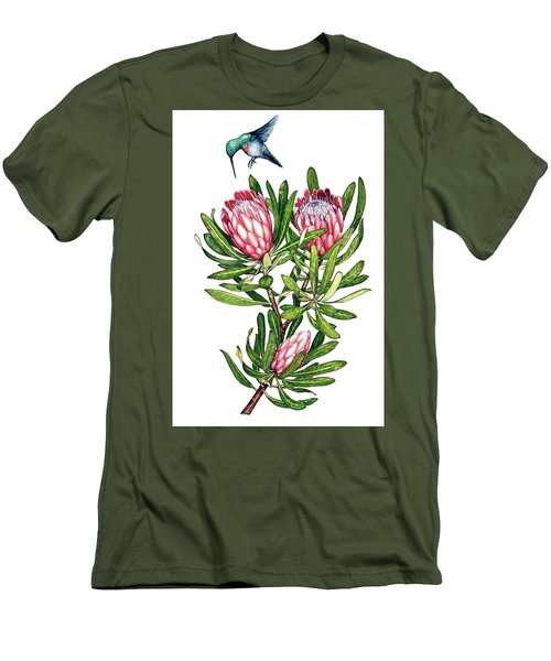 Sugarbush And The Humming Bird Men's T-Shirt (Slim Fit) by Heidi Kriel