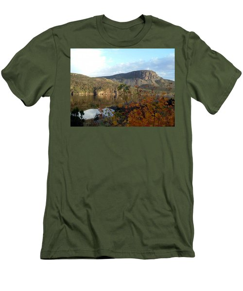 Men's T-Shirt (Slim Fit) featuring the photograph Sugarloaf Hill In Autumn by Barbara Griffin