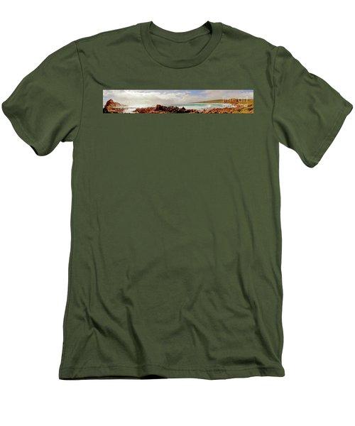 Sugarloaf Rock Panorama I Men's T-Shirt (Athletic Fit)