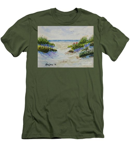 Summer Beach Men's T-Shirt (Athletic Fit)