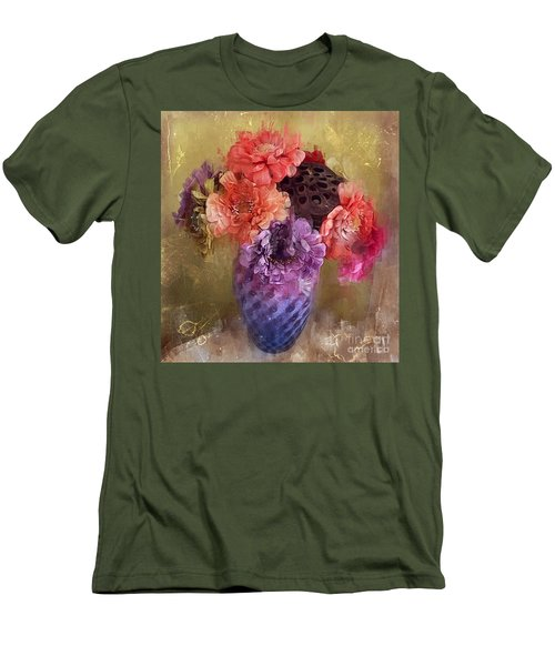 Men's T-Shirt (Slim Fit) featuring the digital art Summer Bouquet by Alexis Rotella