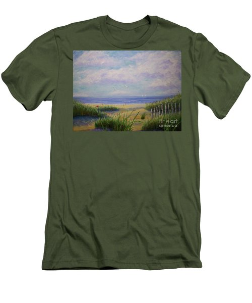 Summer Day At The Beach Men's T-Shirt (Slim Fit) by Stanton Allaben