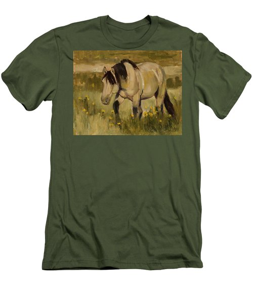 Men's T-Shirt (Slim Fit) featuring the painting Summer Days by Billie Colson