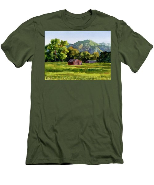 Men's T-Shirt (Slim Fit) featuring the painting Summer Evening by Anne Gifford