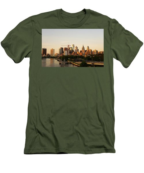 Summer Evening In Philadelphia Men's T-Shirt (Athletic Fit)