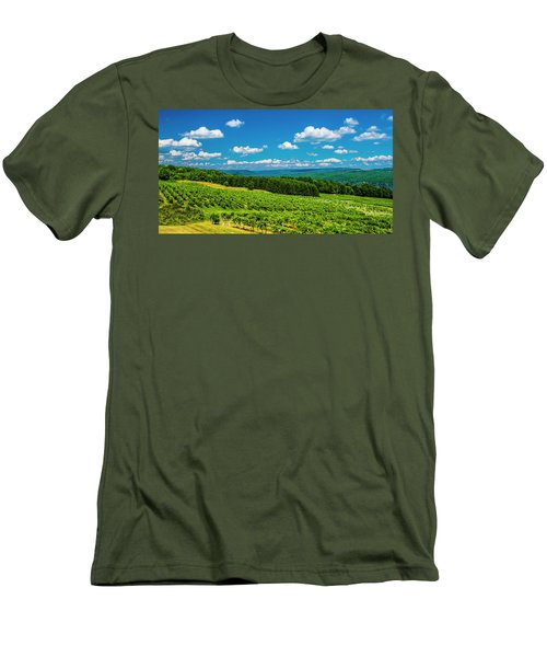 Men's T-Shirt (Slim Fit) featuring the photograph Summer Fields by Steven Ainsworth
