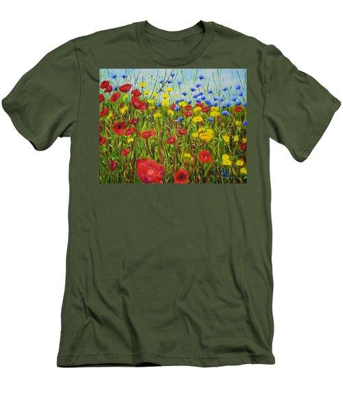 Summer Flowers Men's T-Shirt (Athletic Fit)