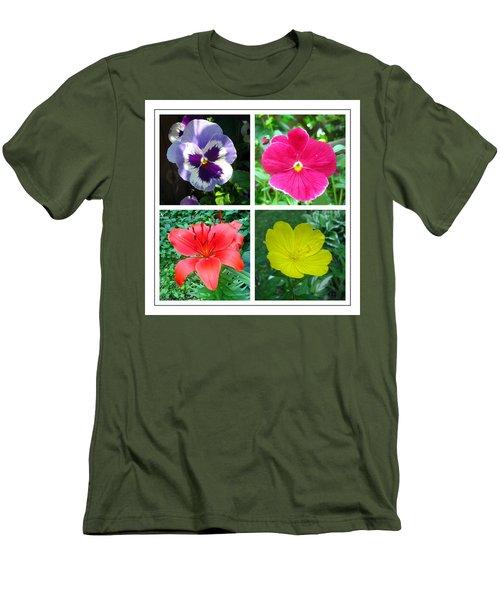 Summer Flowers Window Men's T-Shirt (Slim Fit)