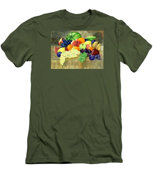 Men's T-Shirt (Slim Fit) featuring the painting Summer Harvest by Sharon Mick