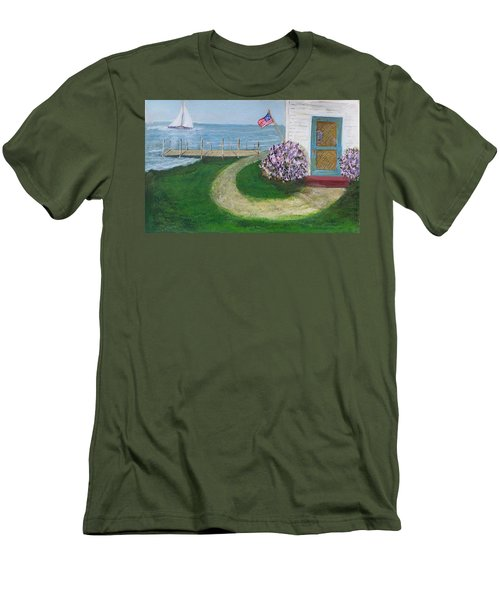 Summer Home In Maine Men's T-Shirt (Athletic Fit)