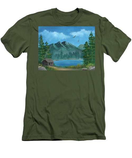Summer In The Mountains Men's T-Shirt (Slim Fit) by Sheri Keith