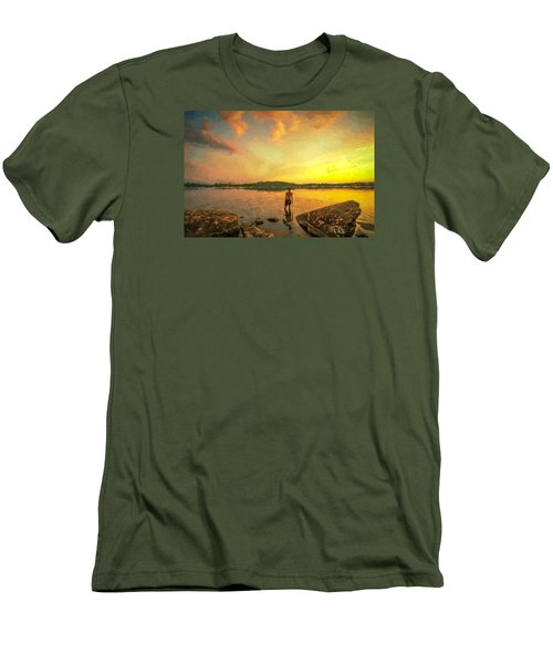 Men's T-Shirt (Slim Fit) featuring the painting Summer Joy by Rose-Maries Pictures