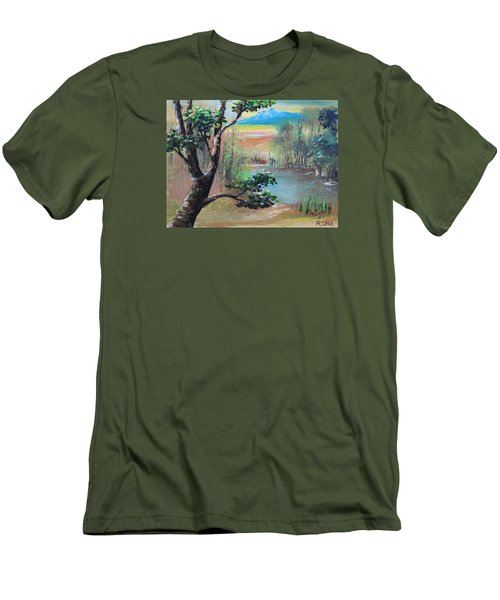 Summer Leaves Men's T-Shirt (Slim Fit) by Remegio Onia