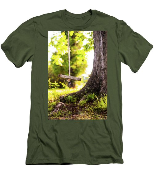 Men's T-Shirt (Slim Fit) featuring the photograph Summer Memories On The Farm by Shelby Young