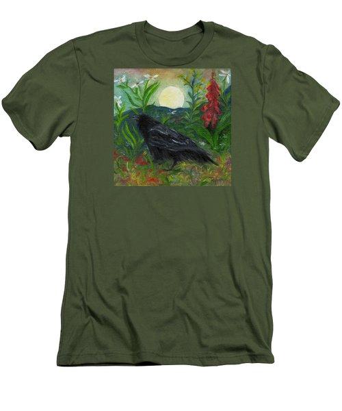 Summer Moon Raven Men's T-Shirt (Athletic Fit)