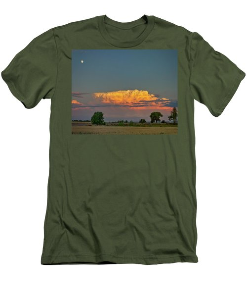 Men's T-Shirt (Slim Fit) featuring the photograph Summer Night Storms Brewing And Moon Above by James BO Insogna