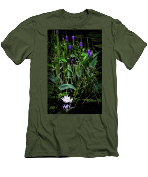 Men's T-Shirt (Slim Fit) featuring the photograph Summer Swamp 2017 by Bill Wakeley