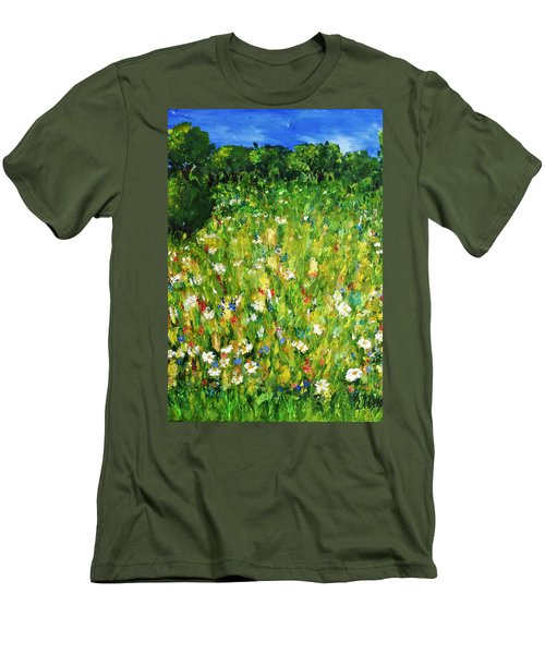 The Glade Men's T-Shirt (Slim Fit) by Evelina Popilian