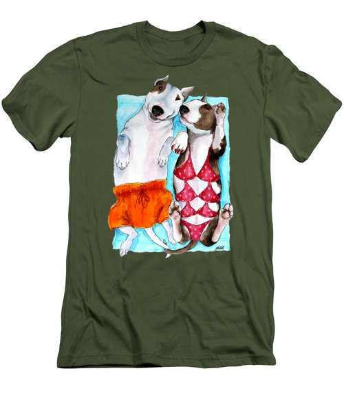 Summer Time Men's T-Shirt (Slim Fit) by Jindra Noewi