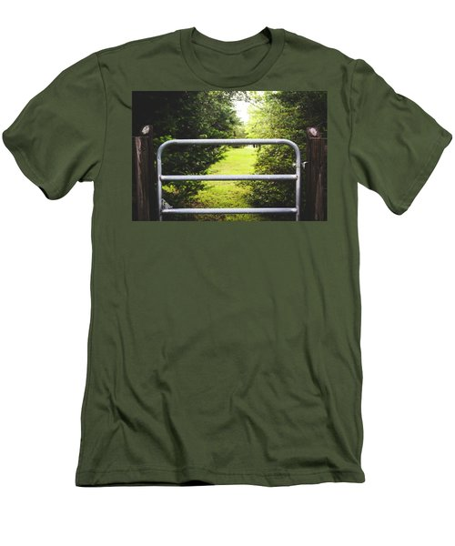 Men's T-Shirt (Slim Fit) featuring the photograph Summer Vibes On The Farm by Shelby Young