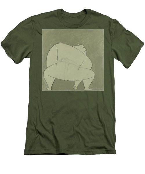 Men's T-Shirt (Athletic Fit) featuring the painting Sumo Wrestler by Ben Gertsberg
