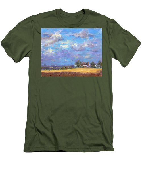 Sun And Clouds Georgetown  Men's T-Shirt (Athletic Fit)