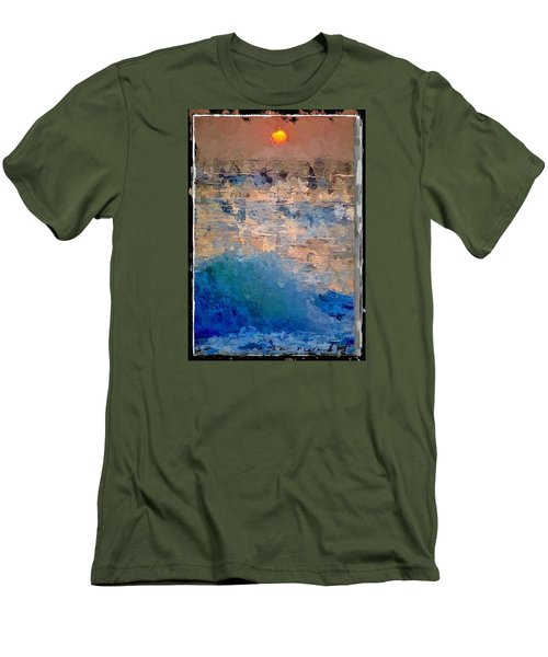 Sun Rays Abstract Men's T-Shirt (Slim Fit) by Anthony Fishburne