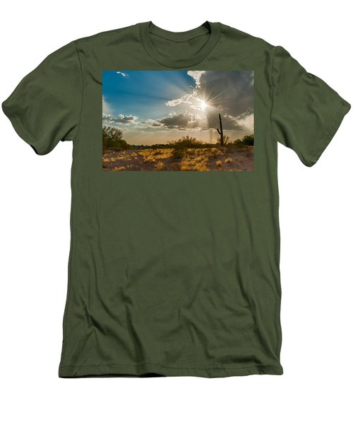 Men's T-Shirt (Slim Fit) featuring the photograph Sun Rays In Tucson by Dan McManus