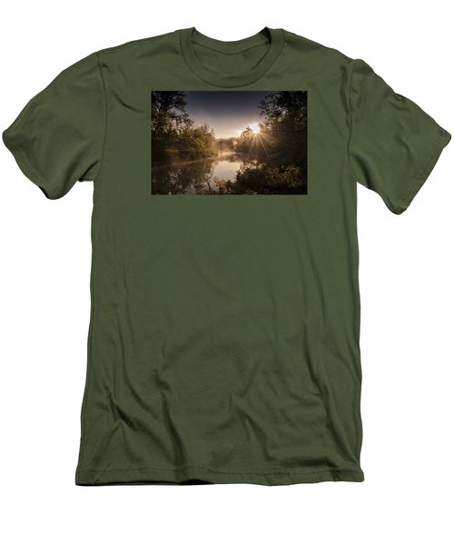 Men's T-Shirt (Slim Fit) featuring the photograph Sunbeams  by Annette Berglund