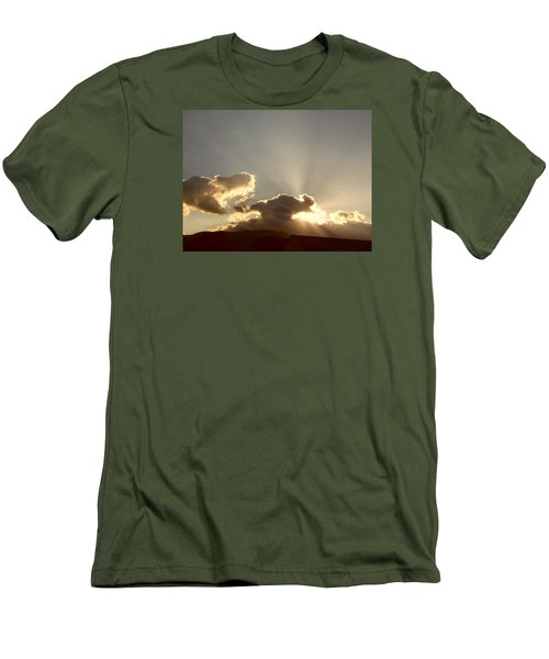 Trumpeting Triumphantly Sunrise Men's T-Shirt (Slim Fit) by Deborah Moen
