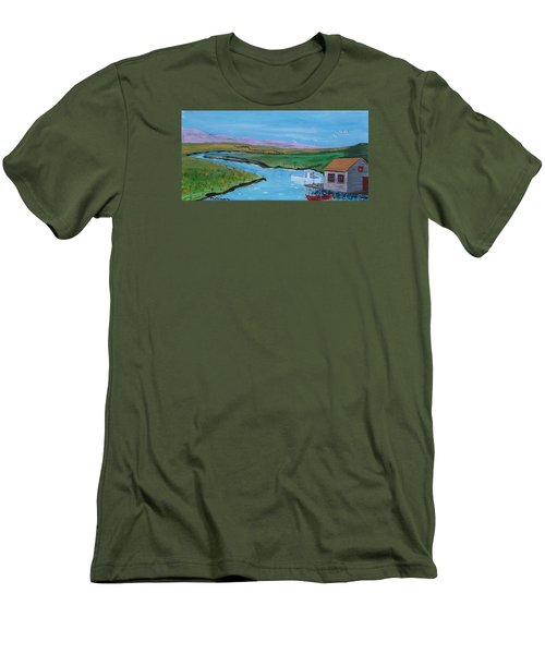 Sunday Afternoon On The California Delta Men's T-Shirt (Slim Fit) by Mike Caitham