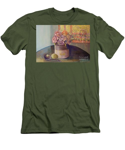 Sunday Morning Roses Through The Looking Glass Men's T-Shirt (Slim Fit) by Marlene Book