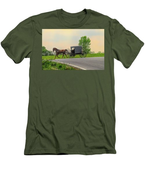 Sunday Ride At Sunset On Ronks Road Men's T-Shirt (Athletic Fit)