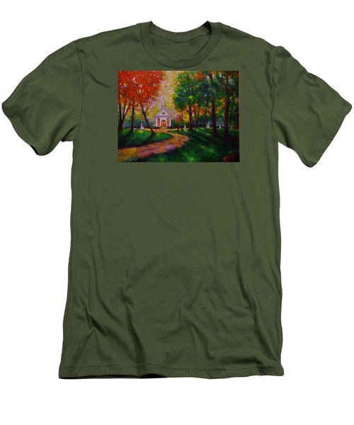 Men's T-Shirt (Slim Fit) featuring the painting Sunday School by Emery Franklin