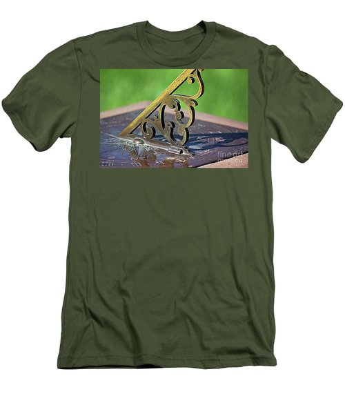 Sundial In The Garden Men's T-Shirt (Athletic Fit)