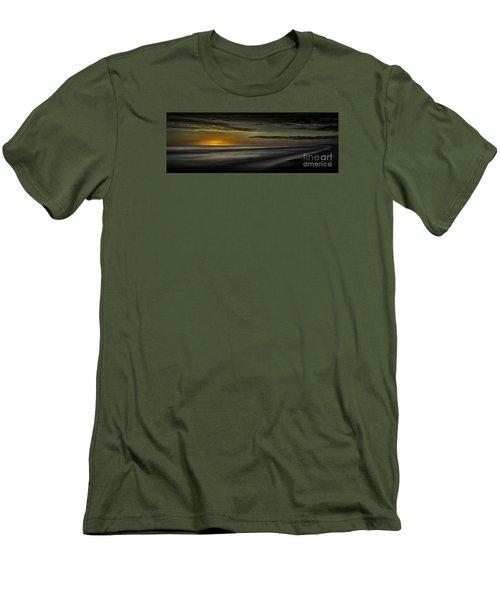 Sundown At Santa Rosa Beach Men's T-Shirt (Slim Fit) by Walt Foegelle