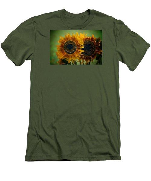 Sunflower 2 Men's T-Shirt (Slim Fit) by Simone Ochrym