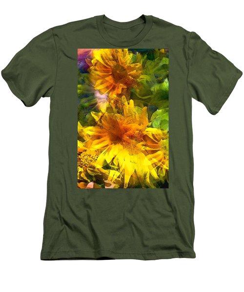 Sunflower 6 Men's T-Shirt (Slim Fit) by Pamela Cooper