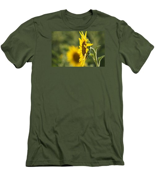 Men's T-Shirt (Slim Fit) featuring the photograph Sunflower Delight by Kathy Churchman