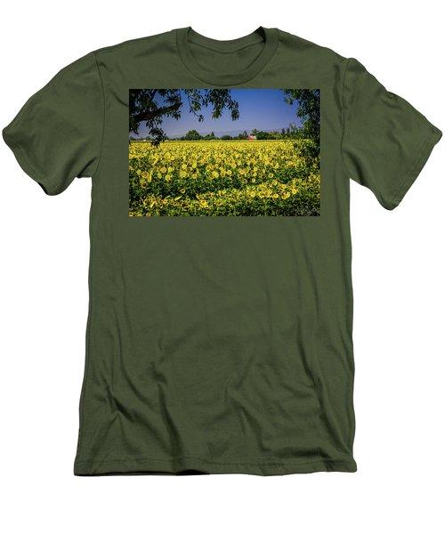 Sunflower Farm Men's T-Shirt (Athletic Fit)