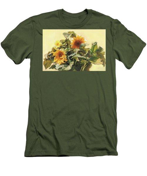 Sunflower In Love - Good Morning America Men's T-Shirt (Athletic Fit)