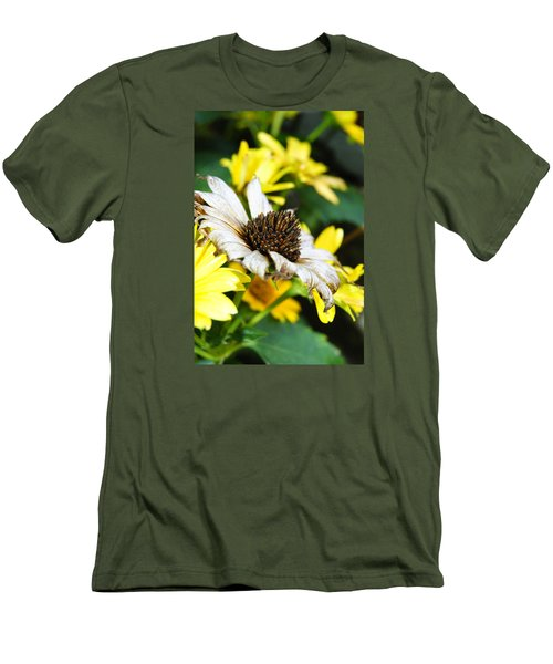 Men's T-Shirt (Slim Fit) featuring the photograph Sunflower Promise by Margie Avellino