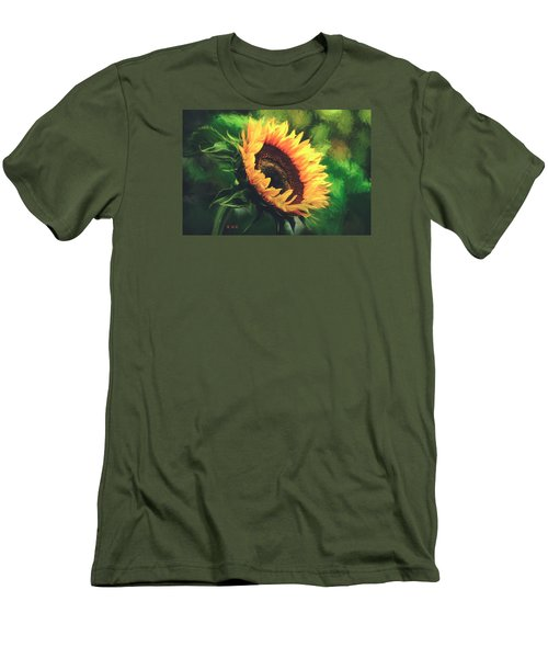 Men's T-Shirt (Slim Fit) featuring the painting Sunflower by Rose-Maries Pictures