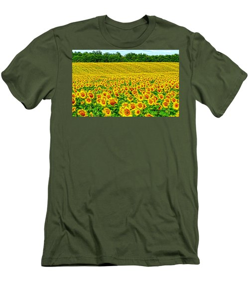 Sunflower Men's T-Shirt (Slim Fit) by Thomas M Pikolin