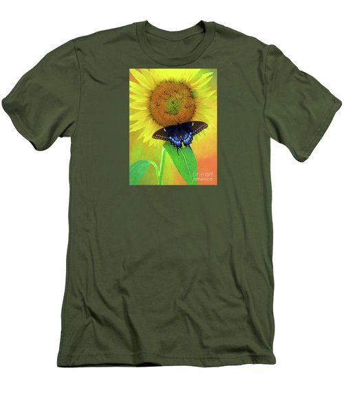 Sunflower With Company Men's T-Shirt (Slim Fit) by Marion Johnson