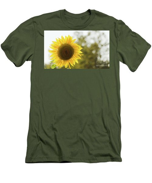 Men's T-Shirt (Athletic Fit) featuring the photograph Sunflowers 12 by Andrea Anderegg