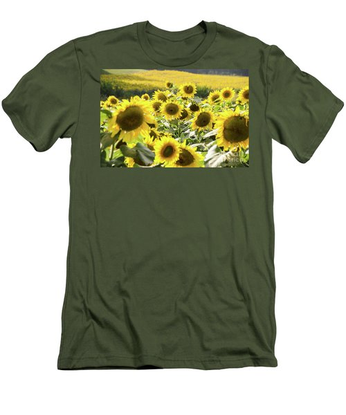 Men's T-Shirt (Athletic Fit) featuring the photograph Sunflowers 13 by Andrea Anderegg