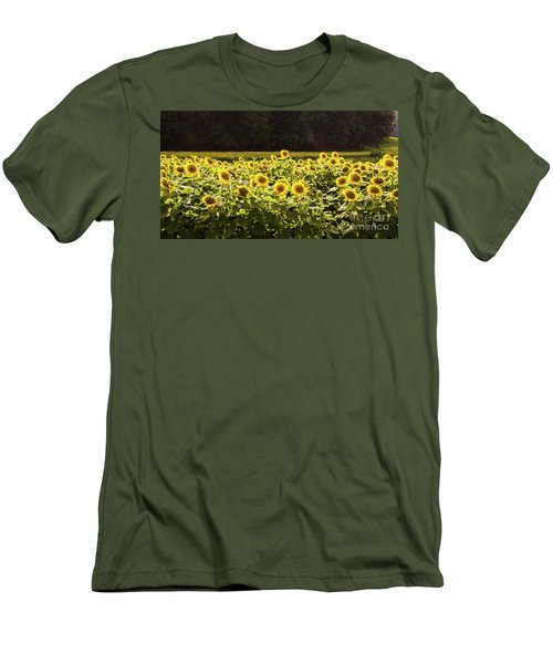 Men's T-Shirt (Athletic Fit) featuring the photograph  Sunflowers 5 by Andrea Anderegg