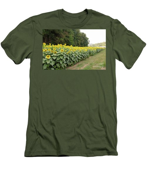 Men's T-Shirt (Athletic Fit) featuring the photograph  Sunflowers 6 by Andrea Anderegg
